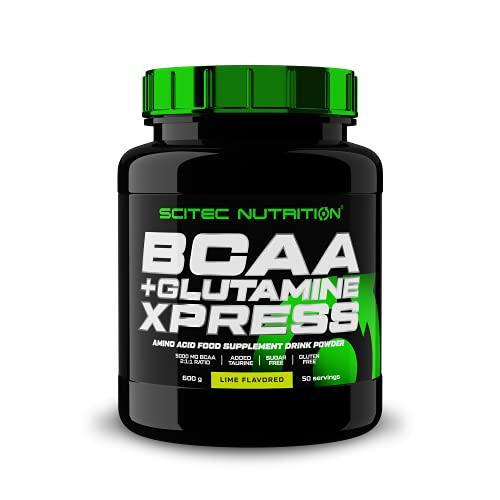 Scitec Nutrition BCAA + Glutamine Xpress, Angereichert mit Taurin, Zuckerfrei, 600 g, Limes