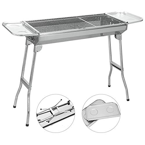 SunJas barbecue à charbon Barbecue Four de Charbon Portable BBQ Charbon Pliable Robuste Barbecue...