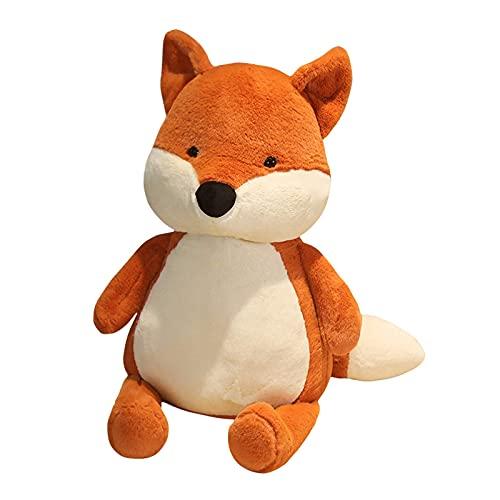 TNSYGSB Peluche de zorro suave y esponjoso con dibujos animados de zorro de peluche para niñas, amantes de San Valentín, cojines de sofá de 50 cm/70 cm/90 cm (color: rojo, tamaño: 50 cm)