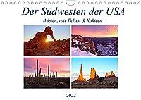 Der Suedwesten der USA: Wuesten, rote Felsen & Canyons (Wandkalender 2022 DIN A4 quer): Eine Reise durch die Wuesten und Canyon im Suedwesten der USA (Monatskalender, 14 Seiten )
