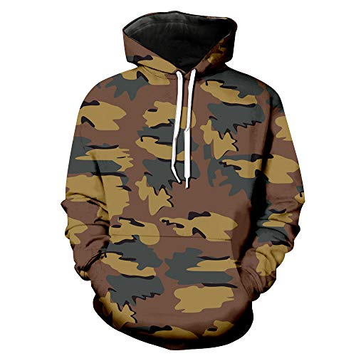 PRJN Mens Long Sleeve Camouflage Hoodie Hooded Sweatshirt Tops Jacket Coat Outwear Mens Pullover Fleece Sweatshirt Camouflage Hoodies Men Camo Hoodie Fashion Camouflage Printed Long Sleeve Sweater