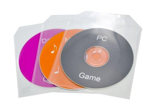 TekNmotion Single CD/DVD 100 Clear Plastic Sleeves