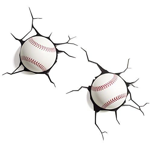 Luminária Bolas de Baseball, Par, 3D Light FX, Branca
