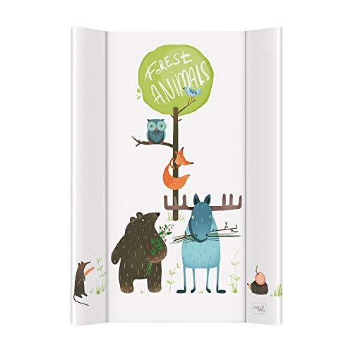 Ceba Baby Wickelauflage Wickelunterlage Wickeltischauflage 2 Keil 70x50 cm Abwaschbar für Mädchen und Junge - Animals 70x50