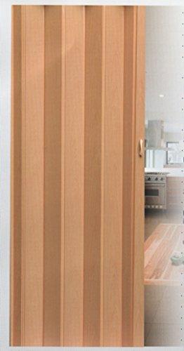 Falttür Schiebetür Tür buche farben mit Schloß/Verriegelung Höhe 202 cm Einbaubreite bis 84 cm Doppelwandprofil Neu TOP-Qualität