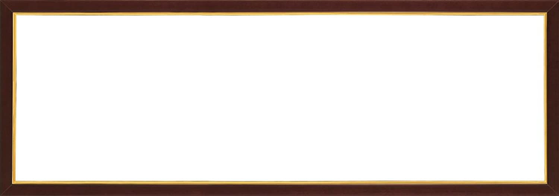木製パズルフレーム ウッディーパネルエクセレント ゴールドライン ブラウン(34x102cm)