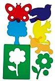 HenBea - Plantillas parque con Varios colores traslúcidas (912)