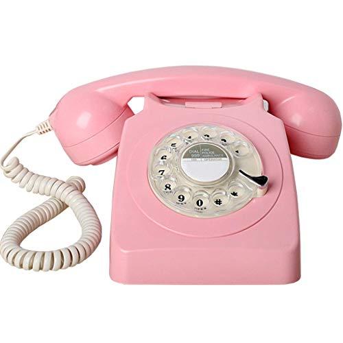 CMmin Antieke Phone Home Intuïtie voor single-line kantoor telefoon met extra sterke bel, Red Office Hotel vast