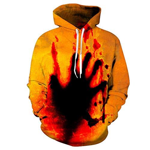 TLLW Unisex, 3D Hoodies, Jungen Hoodies 13–14, Jungen Hoodies, Sweatshirts für Mädchen, für Kinder, lustiger bedruckter Pullover mit Kapuze (90–160) Gr. 130 cm, F001
