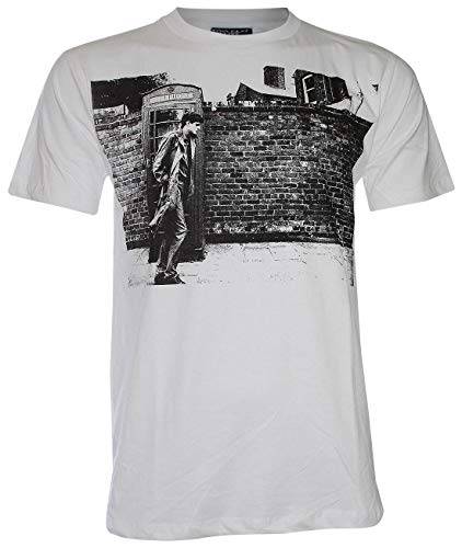 Unisex's Joy Division Ian Curtis Walk from Wall T Shirt (White,M)