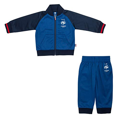 Equipe de France Fußball Trainingsanzug Baby FFF – Offizielle Kollektion 24 Monate blau
