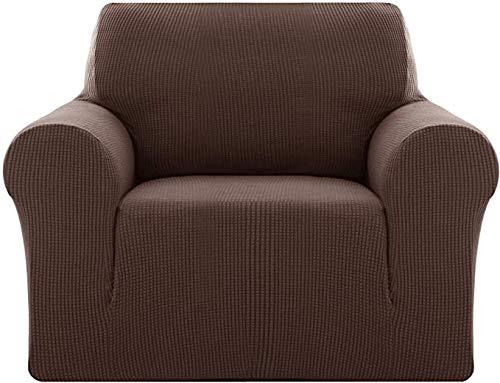 YWTT Funda de sofá de Spandex Ajustada, Protector de Muebles para sofá, Funda de sofá elástica de Jacquard, Antiarrugas, Antideslizante, Funda de sofá (1 Asiento)