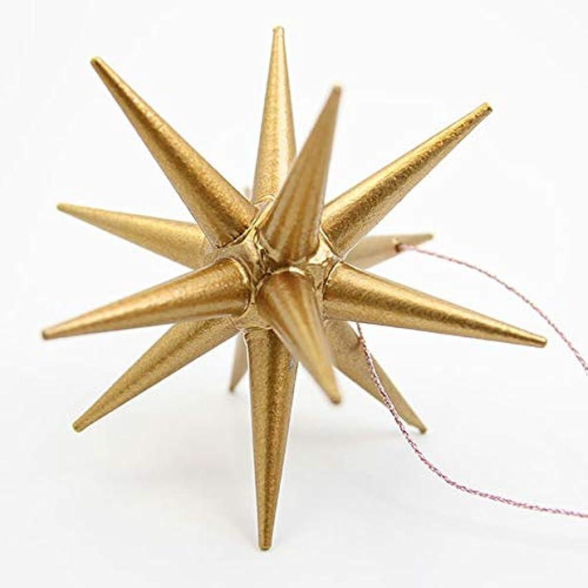 ガウン権利を与える冒険者ピカキュウ オリジナルクリスマスツリーオーナメント ゴールド 金 サイズ(大) Lサイズ 1個 クリスマスの星 ベツレヘムの星 精巧な作り&木製 クリスマスオーナメント