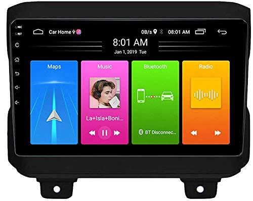 MIVPD GPS Navigation Head Unit Sat Nav Auto Audio Player MP5 Player FM Radio Receptor Coche Estéreo De 9 Pulgadas Táctil Android 10.0 Compatible para Wrangler 2018+,4 Core 4G+WiFi 1+16GB