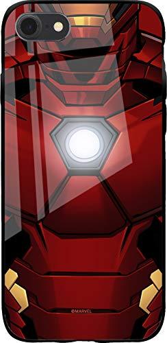 Custodia originale Marvel Iron Man TPU per iPhone 7, iPhone 8, iPhone SE2, custodia in silicone liquido, flessibile e sottile, protettiva per schermo, antiurto e antigraffio