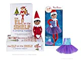 The Elf on the Shelf Girl Dark - New Box Set Bundled with Claus Couture Sugar Plum Dress