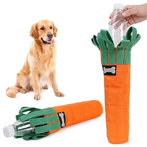 Hengu Karotte Bissfestes Hundespielzeug, Dicke Oxford-Stoffhülle für Plastikflasche mit Schnüffelt Interaktives Spieldesign, Selbstgemachte Kauspielzeuge Perfekt für Mittelgroße Große Hunde