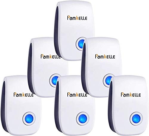 Pamkelle Ultrasonic Pest Repeller 6 Pack, Ultrasonic Pest Control,Electronic Indoor Pest Repellent Plug in,Pest Repeller for Living Room,Home, Bedroom,Bathroom,Kitchen, Office, Warehouse