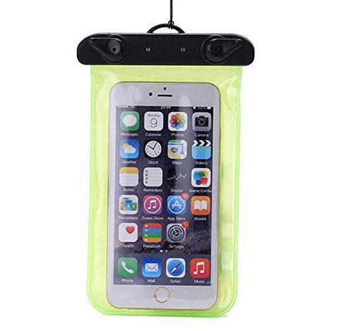 Demarkt - Funda impermeable para teléfono móvil, PVC, 17,5 x 10,5 cm, color verde