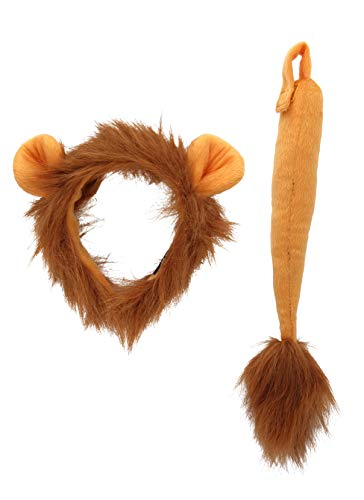 Lion Ears Plush Headband and Tail...