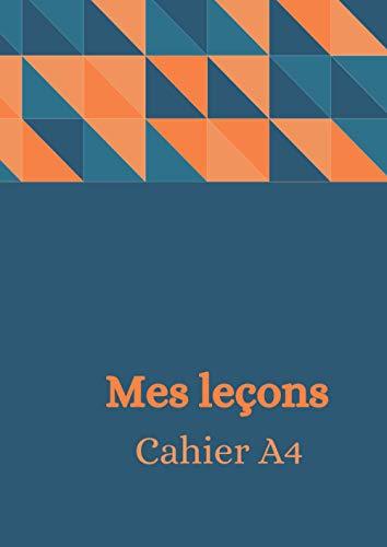 CahierA4-100feuilles-8.27*11.69 pouces (21 * 29.7 cm )-prendre ses leçons de toutes le matières d'une manière très organisée