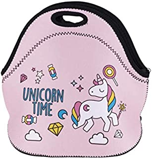 Unicorn Boys Girls Insulated Neoprene Lunch Bag Tote Handbag lunchbox Food Container Gourmet Tote Cooler warm Pouch