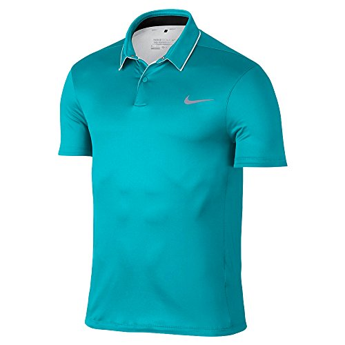 Nike New MM Fly UV Reveal Golf Polo Omega Blue/White Small