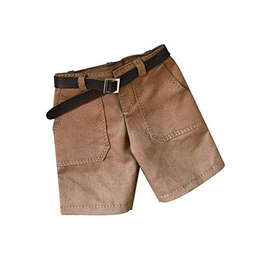 F Fityle Pantalones Cortos Y Correa de Jeans a Escala 1/6 para de Acción Masculina de 12