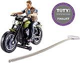 Jurassic World Persecución jurásica, Figura Owen con moto y accesorios (Mattel FMM34)