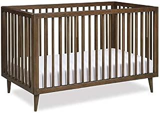 Novogratz Harper 3-in-1 Convertible Baby Crib for Nursery in Walnut