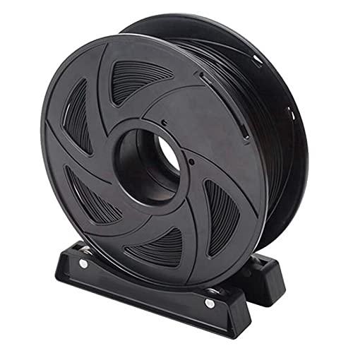 Decorel Soporte de filamento Gigante Spool de Escritorio Impresora 3D Soporte de Material de Soporte Fijo Ajuste Adecuado for 1 kg ABS PLA TPU Carrete (Color : Black)
