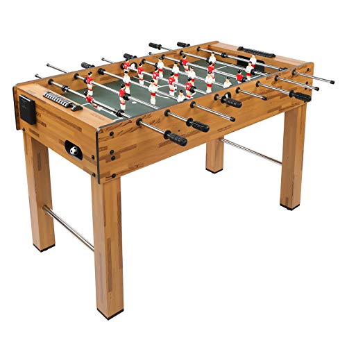 PEXMOR 48 Inch Foosball Table with 2 Balls, 2 Cup Holders, 2 Manual Scorers, Competition Sized Soccer Game Table