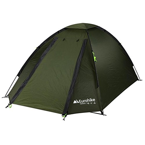 Eurohike Tamar Spacious Dome Design 2 Man Tent, Green, One Size