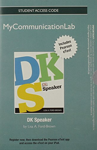 NEW MyLab Communication with Pearson eText -- Standalone Access Card -- for DK Speaker (Mycommunicationlab (Access Codes