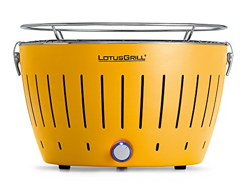 LotusGrill G-GE-34 - Barbacoa de carbón sin Humo, Color Amarillo