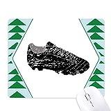 les chaussures de foot foot modèle noir tapis de souris green pine tree tapis en caoutchouc
