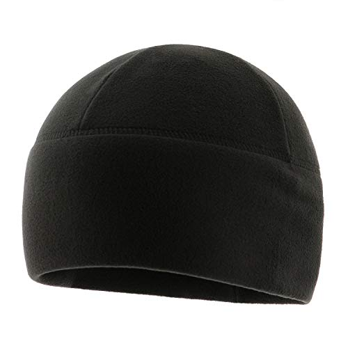 M-Tac Watch Cap Fleece Mens Winter Hat Military Tactical Skull Cap Beanie (Black, XL)