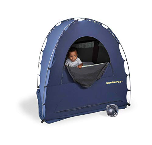 SlumberPod Privacy Pod for Babies and Toddlers: Blackout Dark Sleeping Space; Canopy Compatible with Graco Pack 'n Play, Lotus Travel Crib, Baby Bjorn