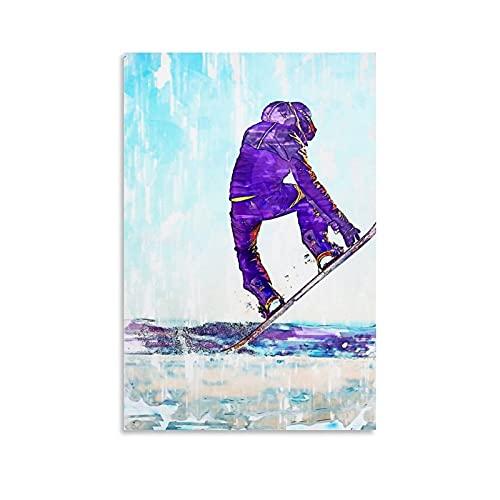 TUOXIE Freestyle - Póster de tabla de snowboard para esquiar (60 x 90 cm)