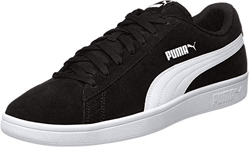 PUMA Smash v2, Zapatillas Unisex Adulto, Negro (Black White Silver), 45 EU