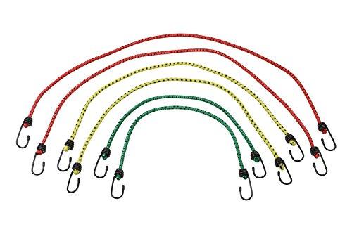 Meister Gepäckspanner 6-teilig - 3 Längen - Stahlhaken mit PVC-Überzug - Spanngummi mit 2 Haken / Gummispanner für Fahrrad, Haushalt & Werkstatt / 8638000
