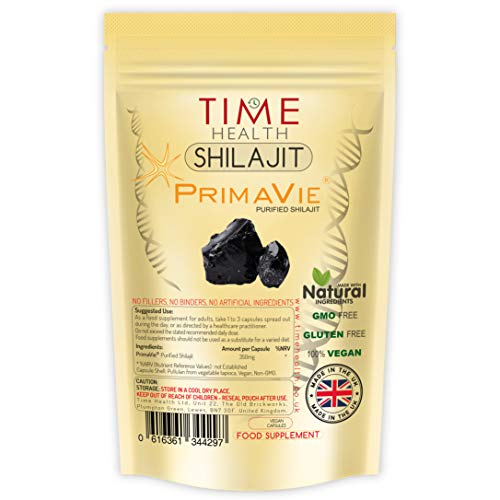 New: Himalayan Shilajit - Clinically Studied Brand PrimaVie - Contains Fulvic Acid & Comprehensive Mineral Profile - 60 Capsules - UK Made - GMP Standards - Zero Additives (60 Capsule Pouch)