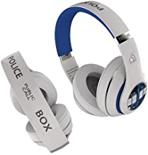 Doctor Who Tardis Wired Headphones with MIC and Controls (White) Best Doctor Who Gift in The Universe