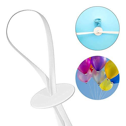 DMAIPUK 100 Ballonverschlüsse mit Band für Ballons mit Helium oder Luftbefüllung | Luftballon Schnellverschluss für Luftballons Verschluss für Dein Geburtstag oder Hochzeit