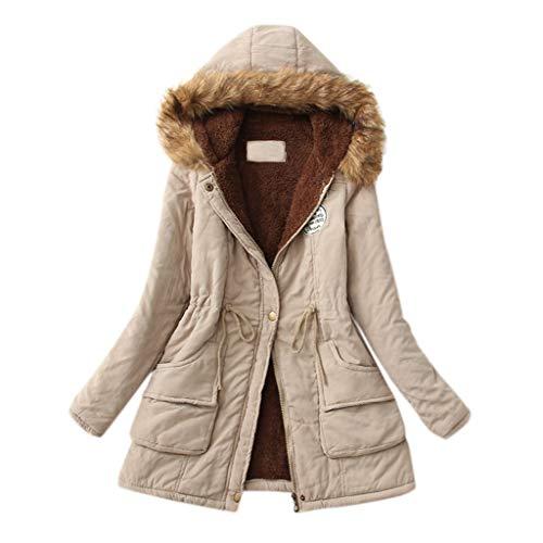 Zylione Damen Winter Langen Mantel Outwear Hoodie Outwear Kapuzenpullover Warmer...