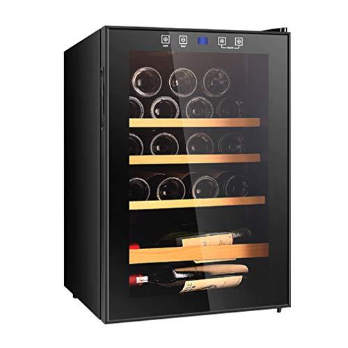 JCJ-Shop LED - Nevera de Vino | Vinotecas PequeñAs | 19 Botellas de Capacidad | Control de Temperatura De 4~18 ° C | Pantalla TáCtil Digital Inteligente | 62L de Gran Capacidad | EnergíA Baja