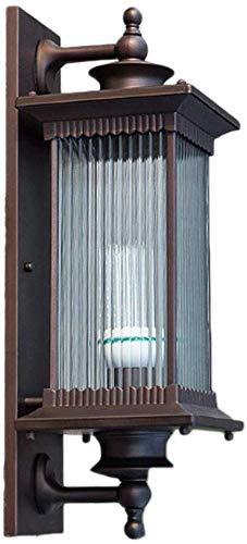 Eenvoudige wandlamp buiten waterdichte deur tuinlamp buiten terras gang wandbehang Villa LED Amerikaanse balkon lamp (grootte: Large Size)