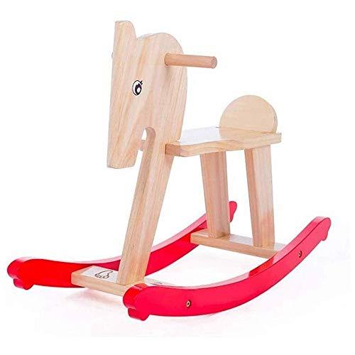 XWX Silla Mecedora De Juguete De Juguete para Bebé De Doble Propósito para Niños Regalo De Cumpleaños De Madera Maciza