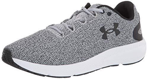Under Armour Men's Charged Pursuit 2 Twist Running Shoe, Gray, 13 M US