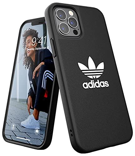 adidas Custodia progettata per iPhone 12 / iPhone 12 Pro 6.1, custodia testata, bordi rialzati antiurto. Custodia originale nero/bianco